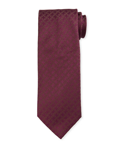 Scroll Jacquard Silk Tie
