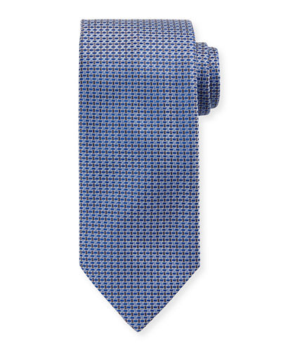 Men's Basketweave Silk Tie