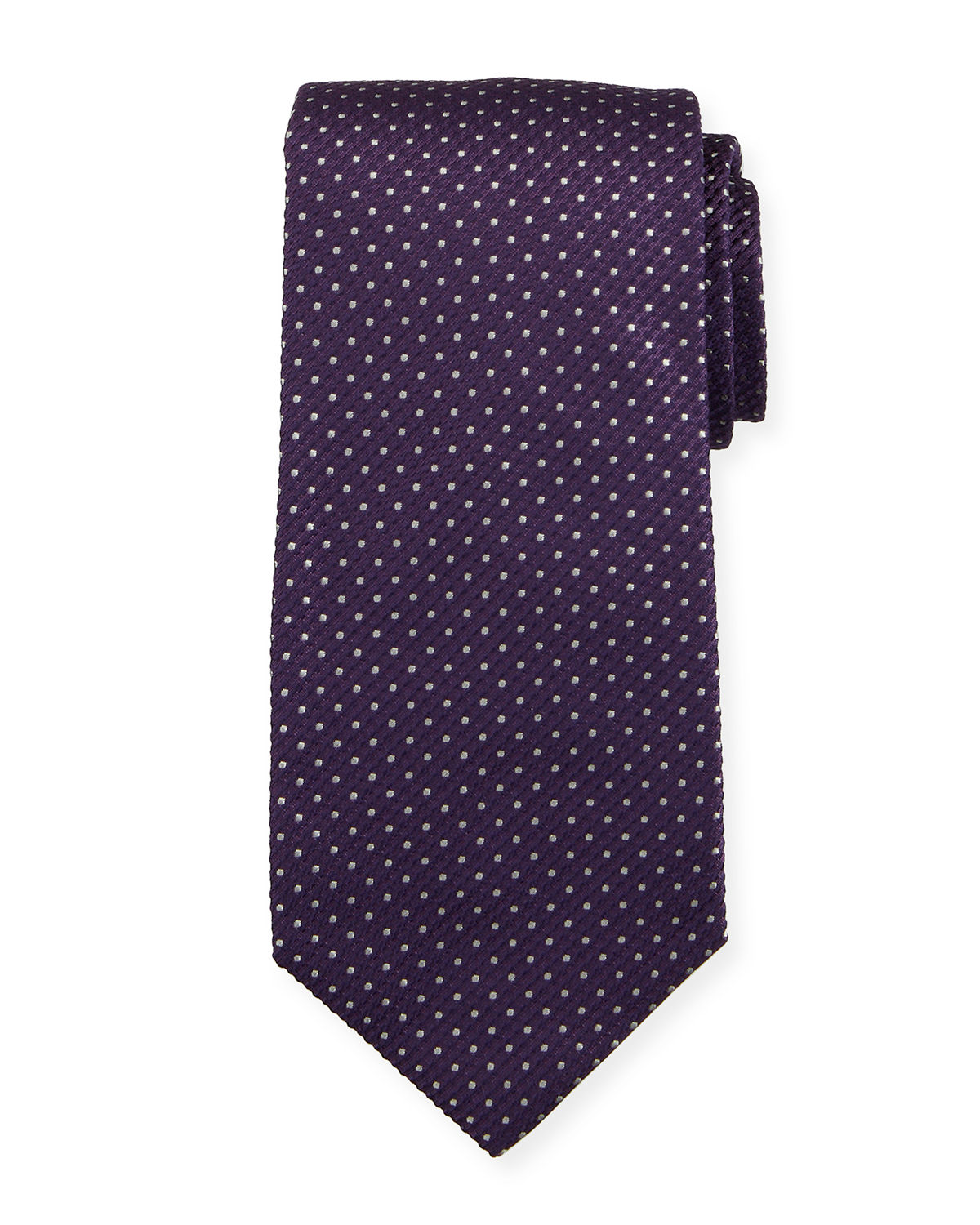 Isaia Ties PIN DOT SILK TIE