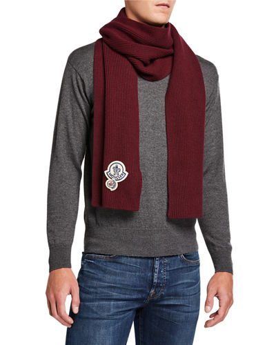 Men's Double-Logo Scarf