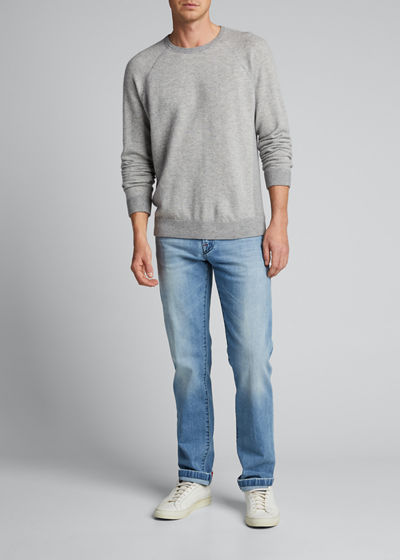 Men's Birdseye Crewneck Pullover Sweater