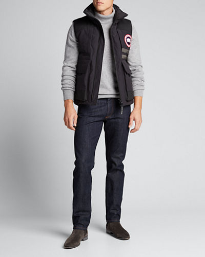 Men's Duncan Logo-Patch Down Vest