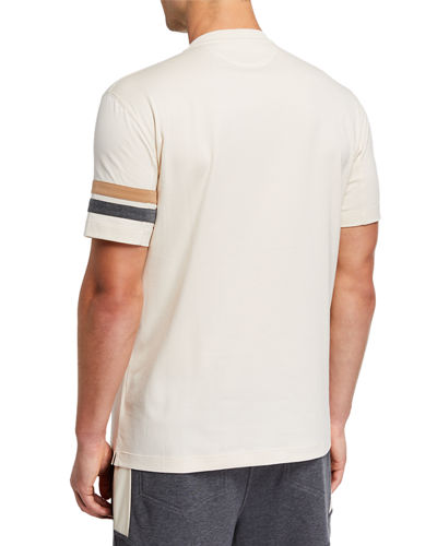 Men's Striped-Armband T-Shirt
