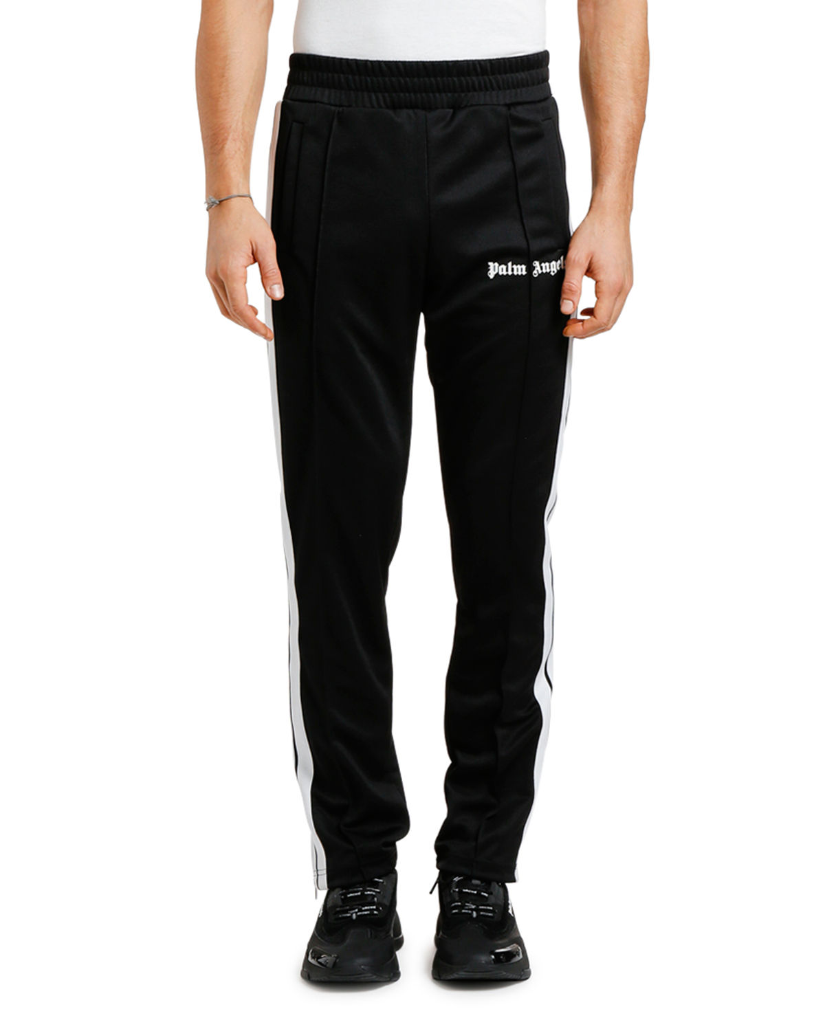 6481c9a3 Palm Angels Men's Classic Track Pants In Black/White. SIZE & FIT INFORMATION