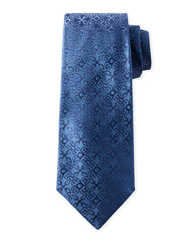 Men's Ornate Solid Silk Tie