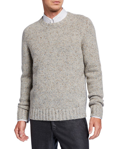 Men's Juan Donegal Cashmere Sweater