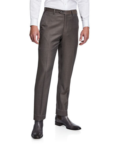 Men's Solid Wool Pants