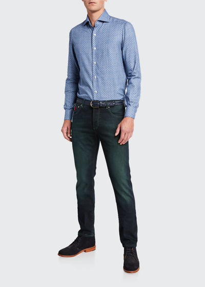 Men's Charcoal-Wash Denim 5-Pocket Pants