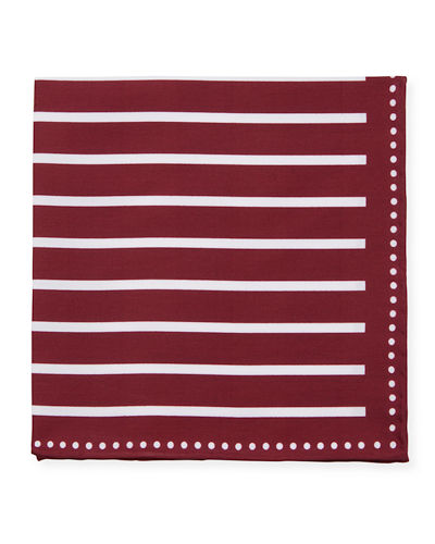 Men's Bold Stripes Pocket Square