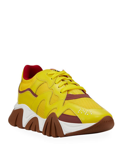 Men's Squalo Mesh & Leather Sneakers