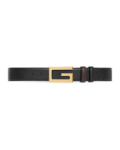 Men's Retro G Reversible Leather Belt