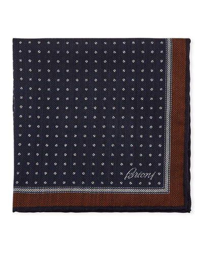 Men's Chevron Dots Silk Pocket Square