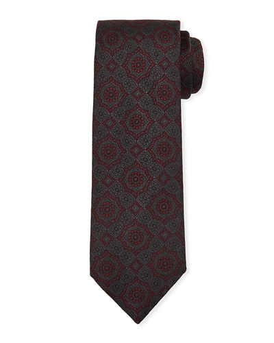 Men's Large-Medallion Silk Tie