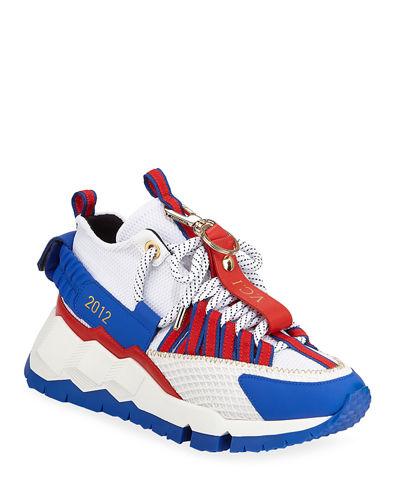 Men's VCI 2012 Mixed-Media Chunky Sneakers