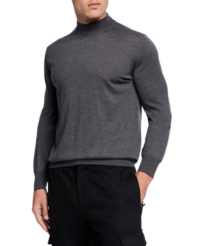 Men's Mock-Neck Wool Sweater