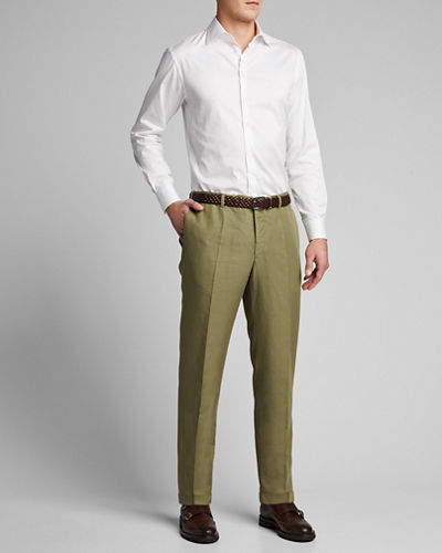 Men's Linen-Blend Chino Pants