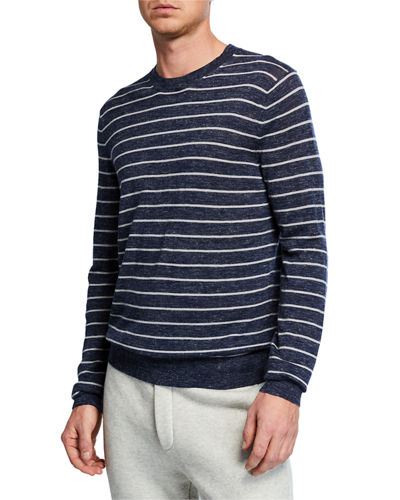Men's Long-Sleeve Stripe Sweater