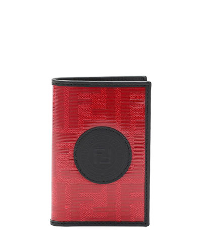 Men's Vetrificato FF-Canvas Vertical Bifold Wallet