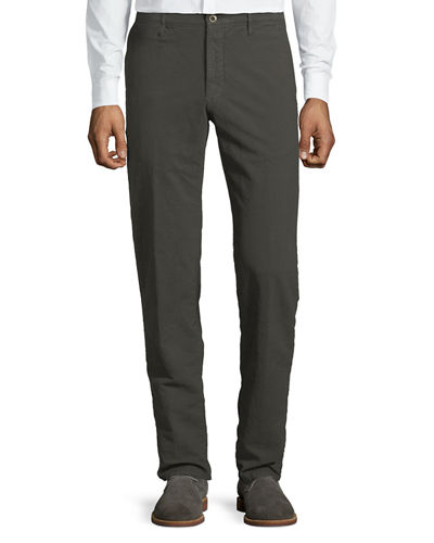 Men's 1st Washed Chino Flat-Front Pants