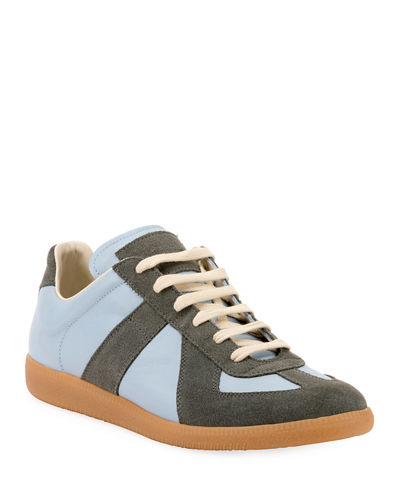 bdef424fb15b3 Men's Replica Suede & Leather Low-Top Sneakers
