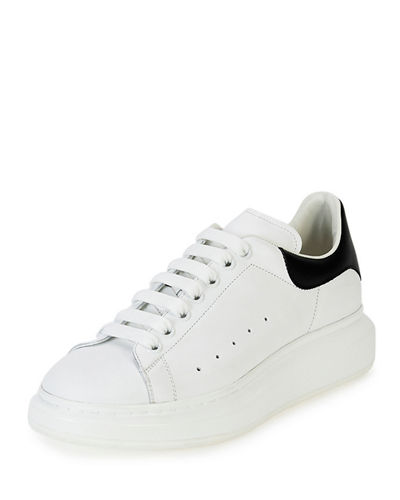 Men's Bicolor Leather Low-Top Sneakers