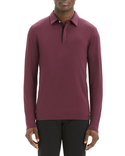 Men's Sartorial Incisive Long-Sleeve Polo Shirt
