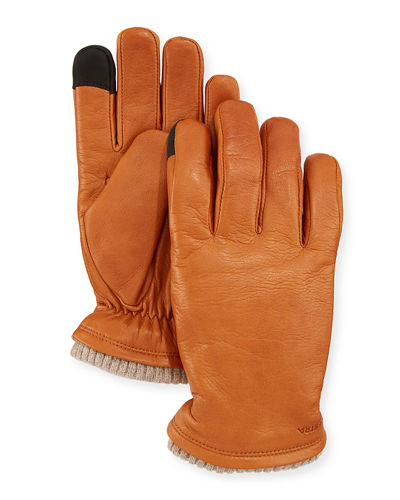 Men's John Tech-Compatible Leather Gloves