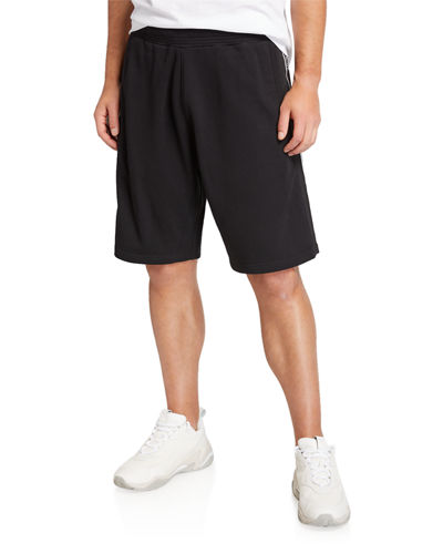Men's Cotton Sweat Shorts with Logo Tape