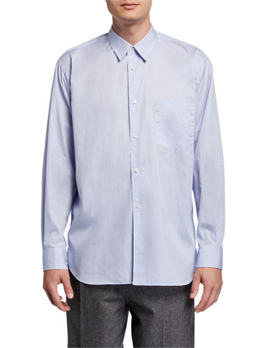 Men's Yarn-Dyed Stripe Poplin Sport Shirt