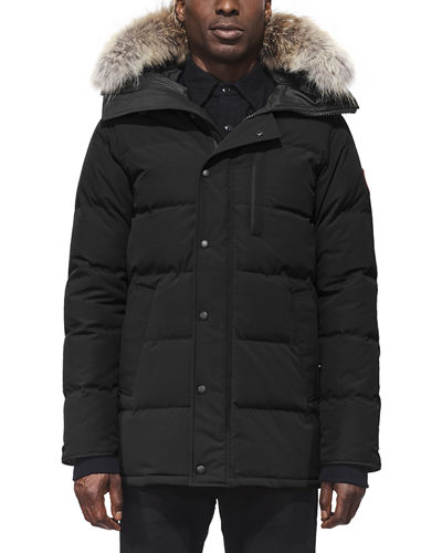 Men's Carson Fusion-Fit Down Parka Coat with Fur-Trim Hood