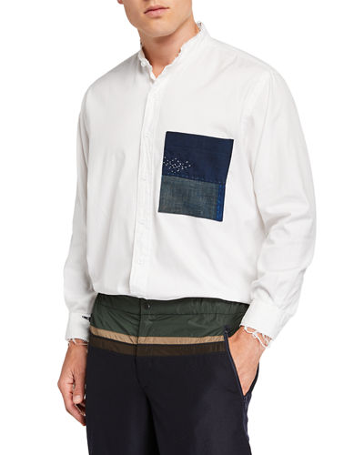 Men's Pehoe Colorblock-Pocket Sport Shirt