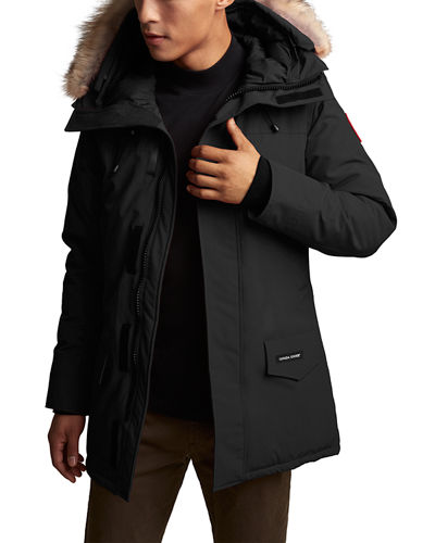 Men's Langford Arctic-Tech Parka Jacket with Fur Hood - Fusion Fit