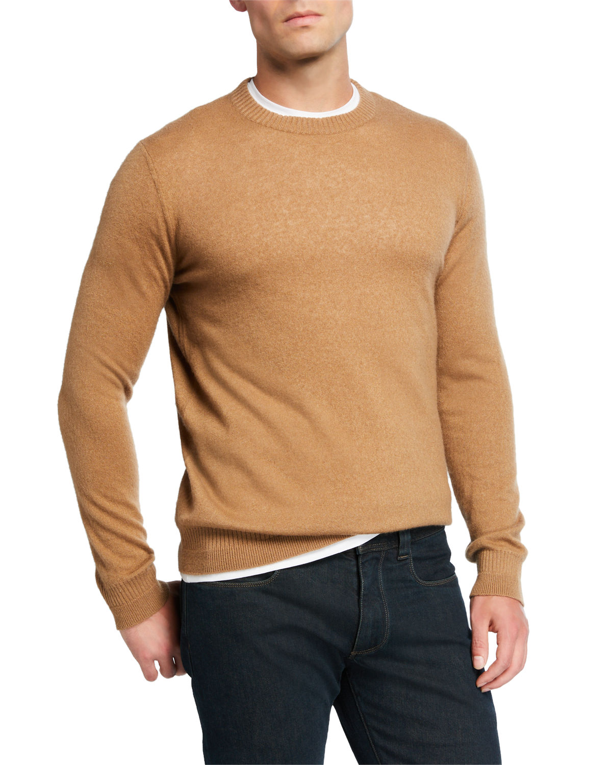 Loro Piana Sweaters MEN'S CREWNECK CASHMERE/SILK SWEATER
