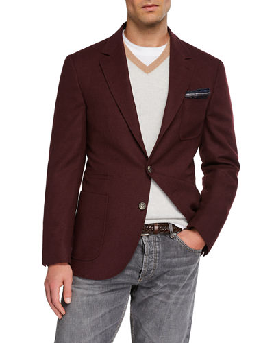 Men's Patch-Pocket Two-Button Jacket