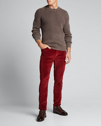 Men's Brando Slim-Fit Velvet Pants