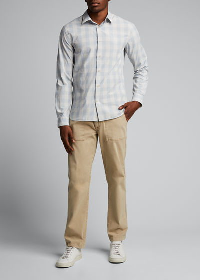 Men's Buffalo Check Sport Shirt
