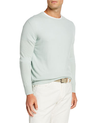 Men's Baby Cashmere Crewneck Sweater