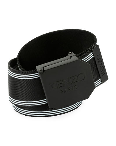 Men's Logo Plaque Sport Belt