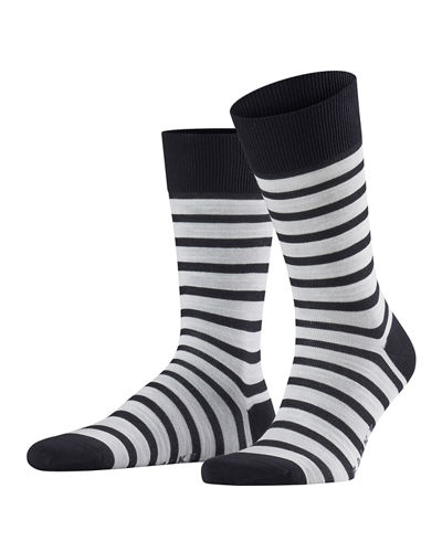 Men's Even Stripe Crew Socks