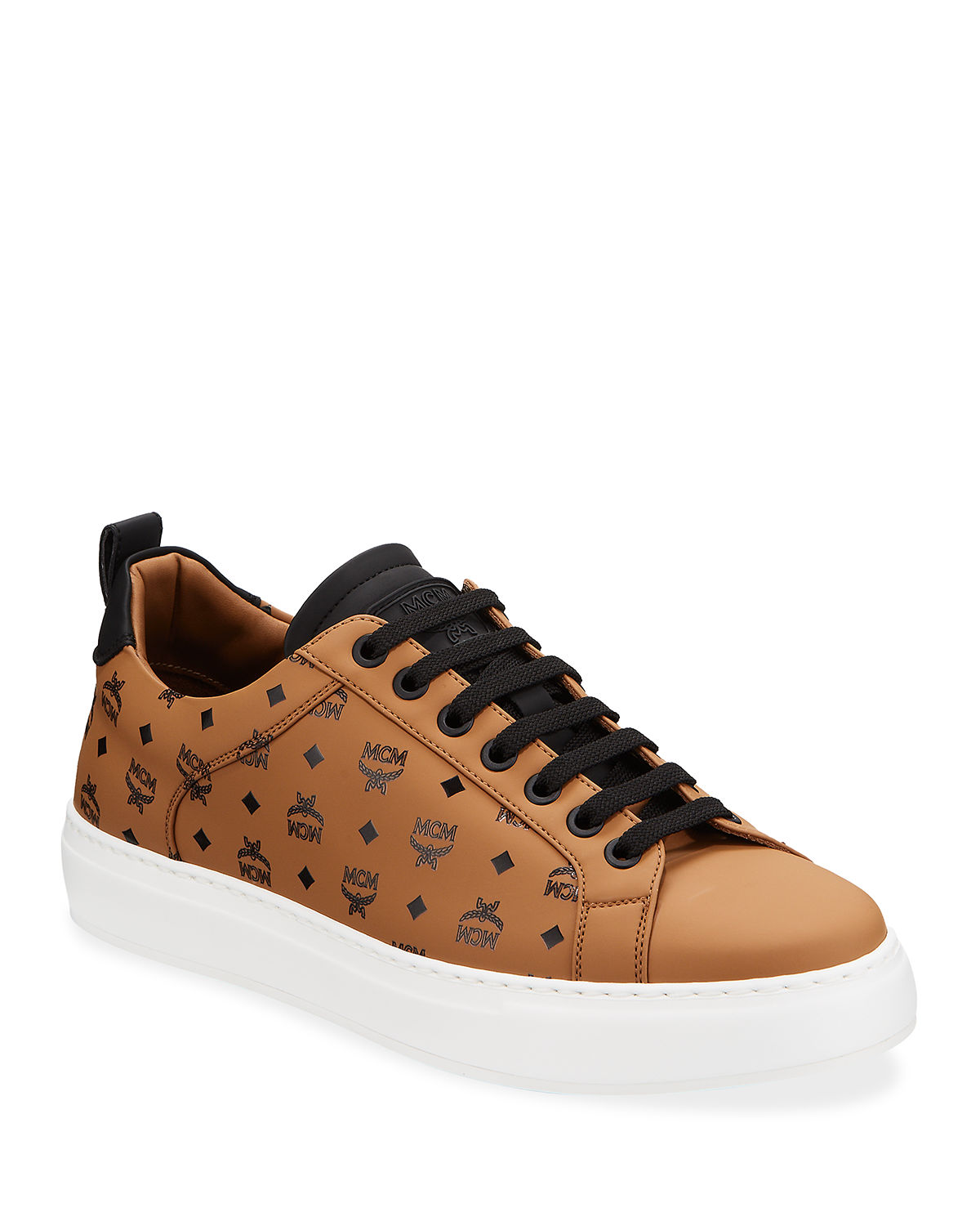 Mcm Sneakers MEN'S LOGO GROUP FAUX-LEATHER SNEAKERS