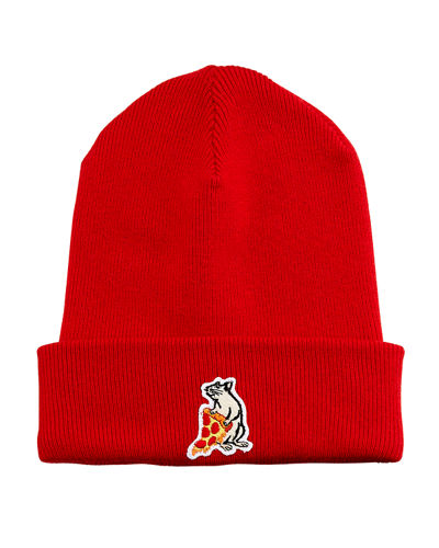Men's Pizza Rat Patch Beanie Hat