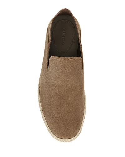 Men's Easton Suede Espadrille Slip-On Sneakers