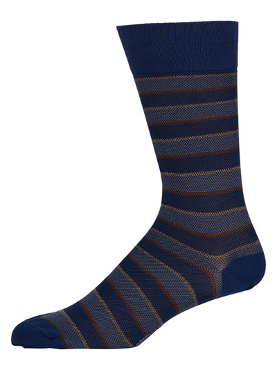 Men's Cotton Pique Club-Stripe Socks