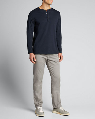 Men's Clean Relaxed Henley Shirt