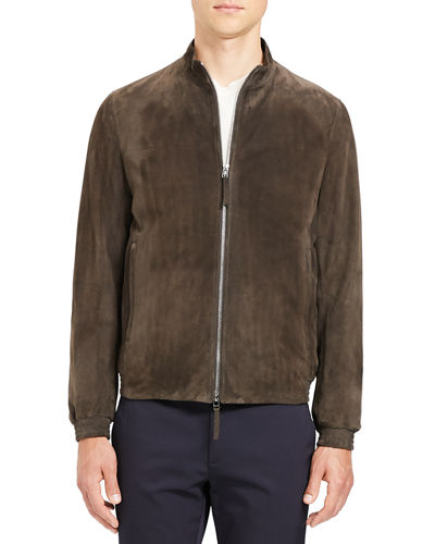 Men's Tremont Goat Suede Bomber Jacket