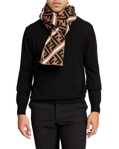 Men's FF Logo Fleece Scarf