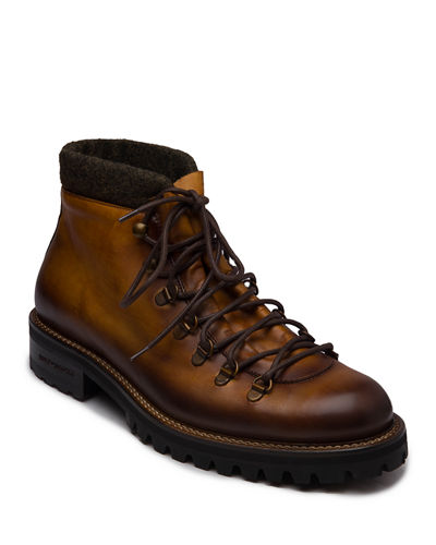 Men's Alpino Lace-Up Leather Ankle Boots
