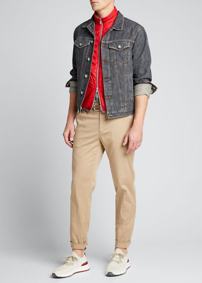 Men's Stretch-Twill Tapered Pants