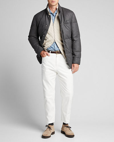 Men's Chevron Down-Filled Jacket