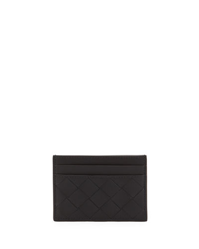Men's Portacard Woven Leather Card Case